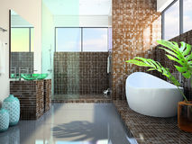 Modern interior of the bathroom Royalty Free Stock Photography