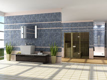 The modern interior of a bathroom Royalty Free Stock Photo