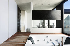 Modern interior, bathroom Stock Photo