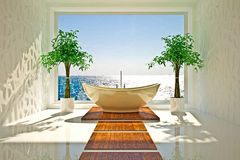Modern interior of bathroom Royalty Free Stock Photo