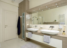 Modern interior.Bathroom Stock Photos