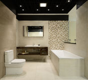 Modern interior. Bathroom Stock Image