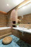 Modern interior. Bathroom Stock Photos