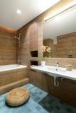 Modern interior. Bathroom Stock Photos