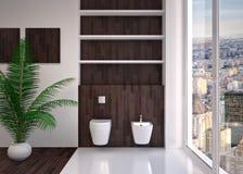 Modern interior of bathroom Stock Image
