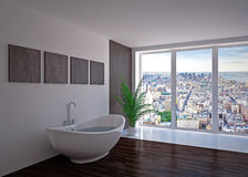 Modern interior of bathroom Stock Images