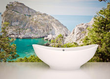 Modern interior of bathroom Royalty Free Stock Image