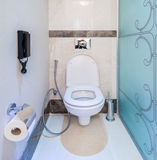Modern interior of bathroom and toilet Royalty Free Stock Photography