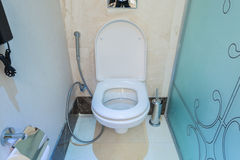 Modern interior of bathroom and toilet Stock Photography