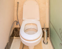Modern interior of bathroom and toilet Royalty Free Stock Images