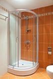 Modern interior beautiful bathroom in white Stock Photos