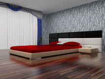 Modern interior of a bedroom. Stock Photo