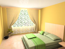 Modern interior of bedroom Royalty Free Stock Image