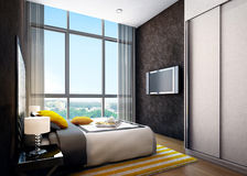 Modern Interior bedroom Royalty Free Stock Image
