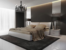 Modern Interior bedroom Royalty Free Stock Photography