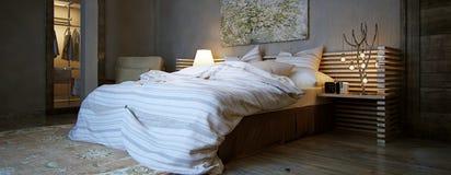 Modern interior bedroom Stock Image