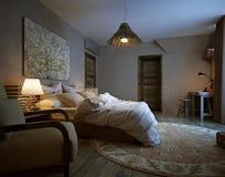 Modern interior bedroom Stock Photo