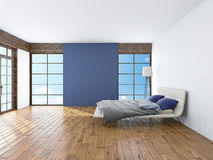 Modern interior of a bedroom 3d rendering Royalty Free Stock Photography