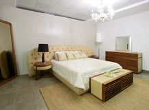 Modern interior. Bedroom. royalty free stock photo