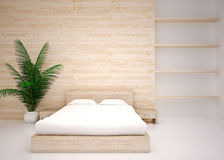 Modern interior of  bedroom Royalty Free Stock Photos