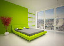 Modern interior of  bedroom Royalty Free Stock Images