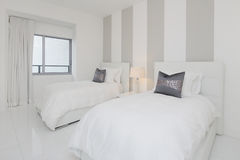 Modern interior bedroom Stock Photo
