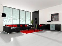 Modern interior of a cabinet Royalty Free Stock Image