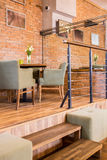 Modern interior of cafe bar Royalty Free Stock Images