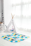 Modern interior of the child`s bedroom with carpet in front Stock Photos
