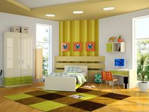 Modern interior of the childroom Royalty Free Stock Photo
