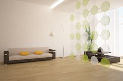 Modern interior composition Royalty Free Stock Image