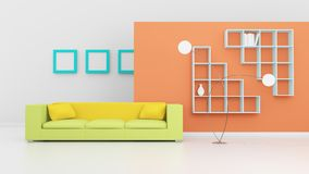 Modern interior composition. Royalty Free Stock Photo