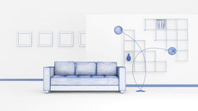 Modern Interior Composition Stock Images