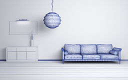 Modern interior composition. Royalty Free Stock Photography