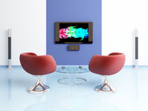Modern interior composition. Stock Photos