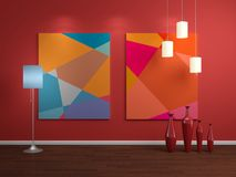 Modern interior composition Stock Photos