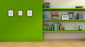 Modern interior composition with blank pictures on wal, vase Royalty Free Stock Photography