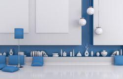 Modern interior composition. Royalty Free Stock Image