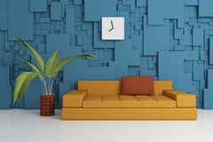 Modern interior composition Stock Photos