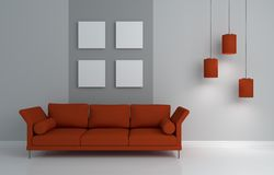 Modern interior composition Royalty Free Stock Images
