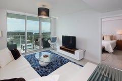 Modern interior condominium. Stock photo of a modern condominium modern interior royalty free stock photos