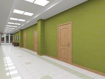Modern interior corridor with doors Stock Photography