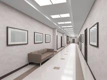 Modern interior corridor Stock Photos