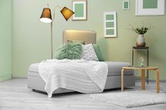 Modern interior with   couch. Modern interior with stylish couch Stock Image