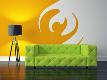 Modern interior. 3D render modern interior and sofa Stock Photo