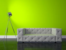Modern interior. 3D render modern interior and sofa Royalty Free Stock Photography