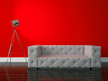 Modern interior. 3D render modern interior and sofa Royalty Free Stock Images