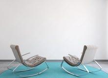 Modern interior. 3d rendering. Royalty Free Stock Image