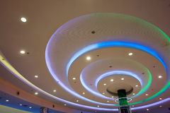 Modern interior decoration beautiful ceiling lights Royalty Free Stock Photos