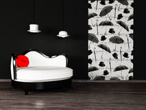 Modern  interior design with Stock Photography